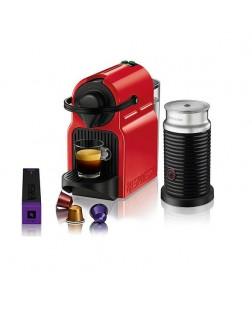 Krups Machine Nespresso Inissia XN1015S + Aeroccino Red