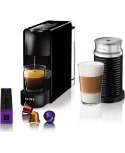 Krups Coffee Maker Nespresso Essenza Mini & Aeroccino Black XN1118S