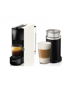 Krups Coffee Maker Nespresso Essenza Mini & Aeroccino White XN1111S
